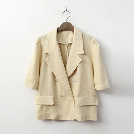 Linen Herringbone Jacket - 반팔