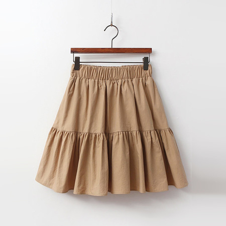Cotton Cancan Mini Skirt - 치마바지