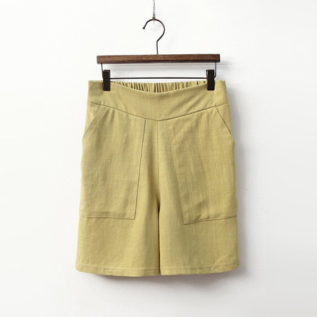 Linen Cotton Pocket Shorts