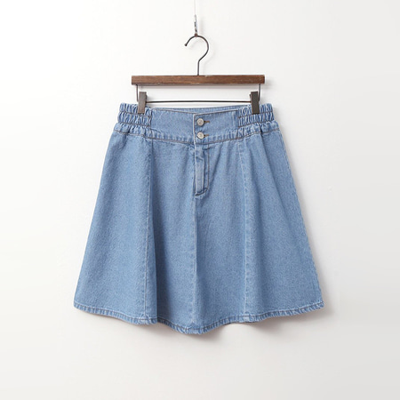Denim Full Mini Skirt